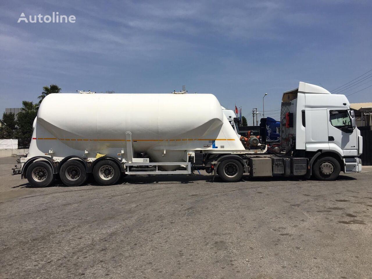 35 m3 USED W TYPE NONTIPPING SILO SEMI TRAILER cisterna silos