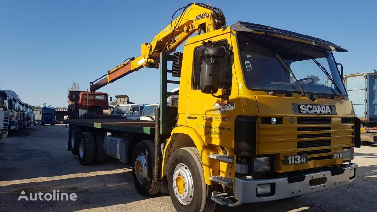 SCANIA 113H 360 20TONS CRANE kamion platforma