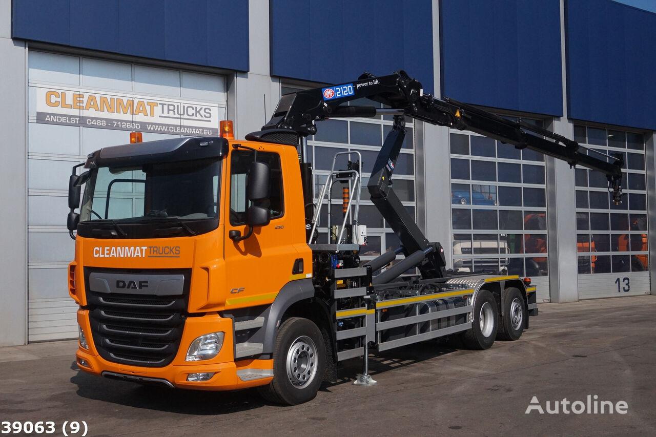 DAF FAN CF 430 HMF 21 ton/meter laadkraan kamion rol kiper