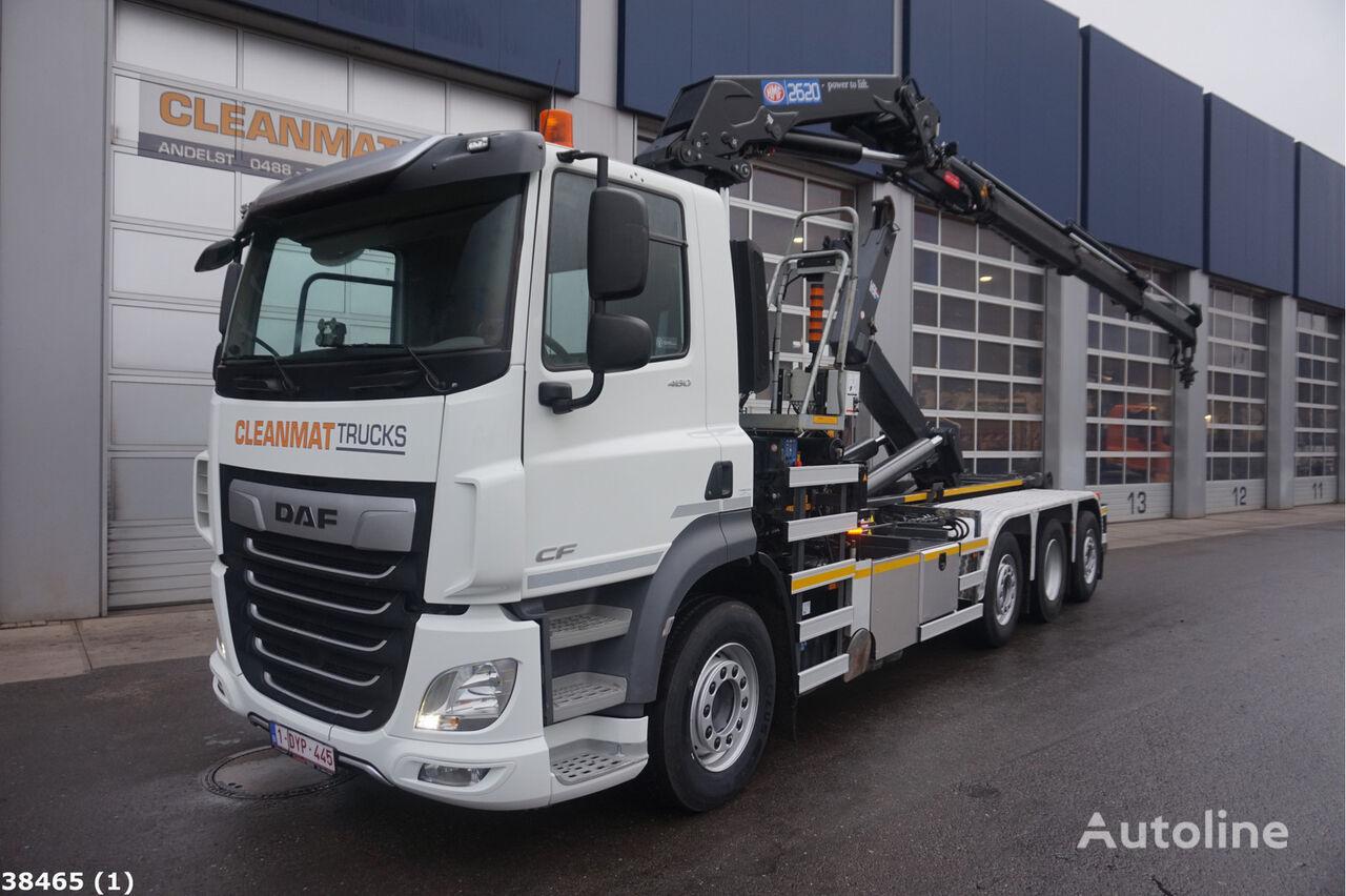 DAF FAQ CF 460 8x2 Euro 6 HMF 26 ton/meter laadkraan kamion rol kiper