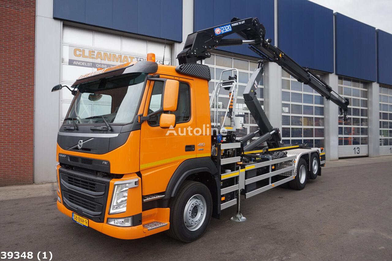 VOLVO FM 410 Euro 6 HMF 23 ton/meter laadkraan kamion rol kiper