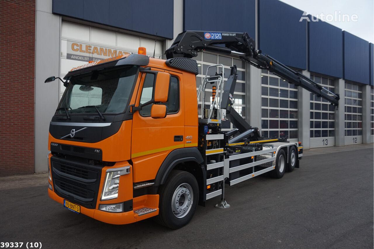VOLVO FM 410 HMF 23 ton/meter laadkraan kamion rol kiper