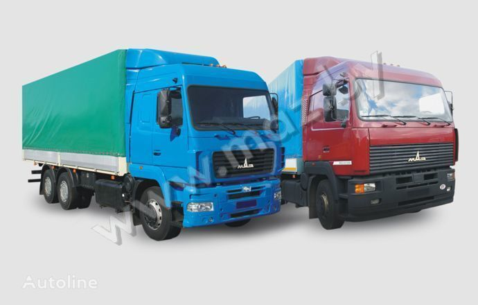 novi MAZ 6312 (A5, A8, A9) kamion s ceradom