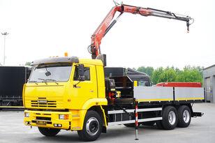 KAMAZ 65117 , 6x4 , Crane Fassi 95 , rotator , box 6m kamion s ravnom platformom