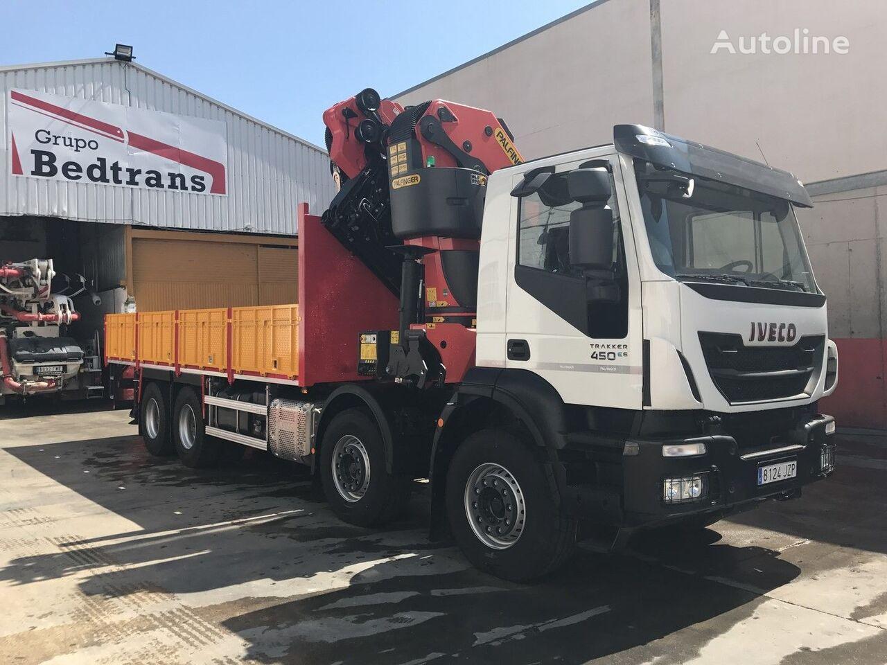 novi IVECO TRAKKER 450 EURO6!!! PALFINGER 78002+JIB NEW!! kamion s ravnom platformom