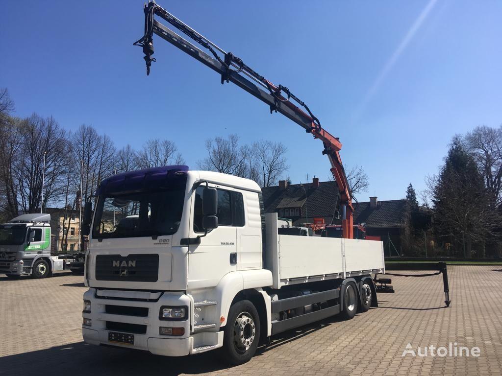 MAN 26.430 TGA kamion s ravnom platformom