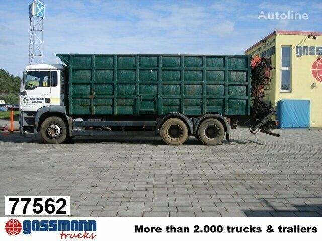 MAN TGA 26.413 mit Kran Jonsered 1020 Tempomat kamion s ravnom platformom