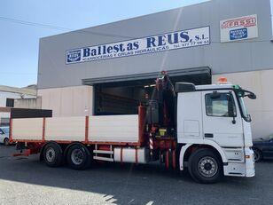 MERCEDES-BENZ ACTROS 2536 FASSI 235 kamion s ravnom platformom