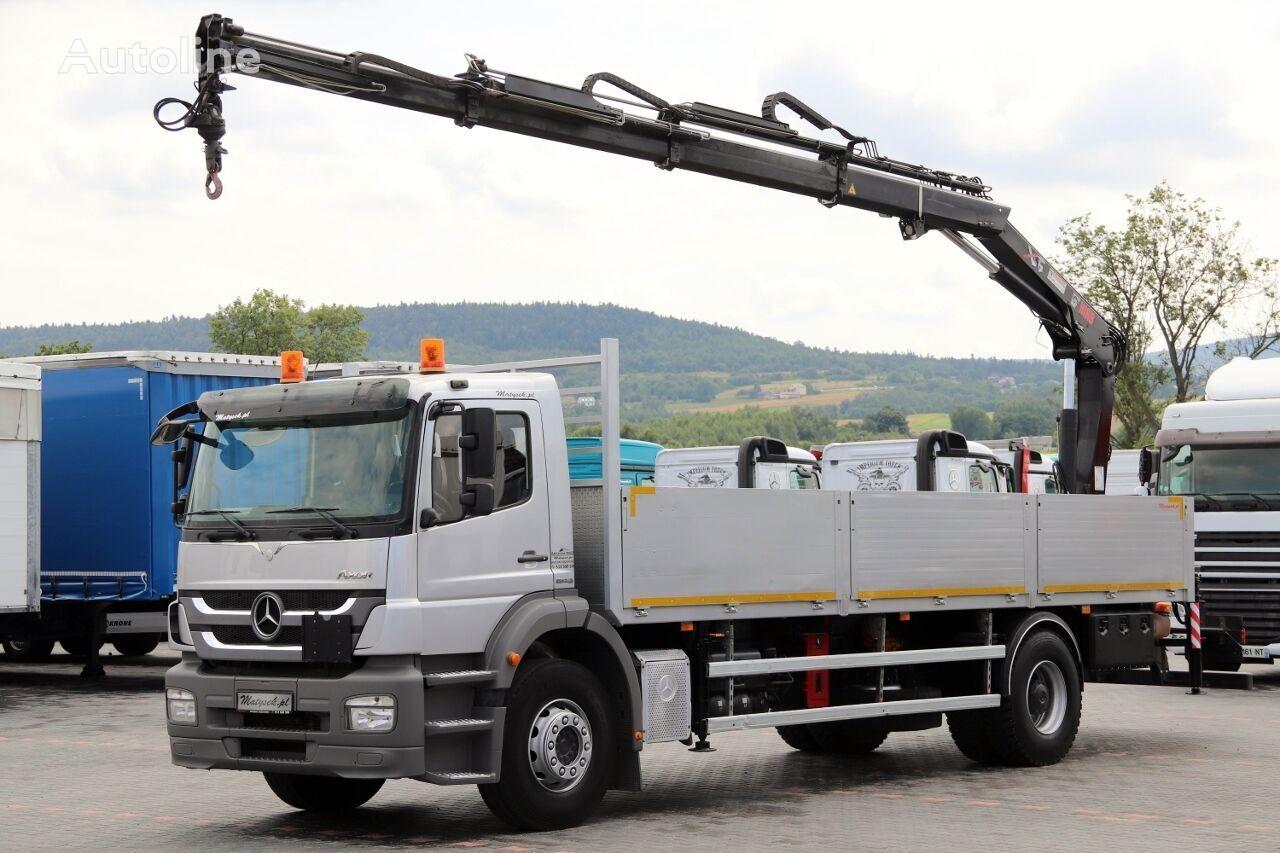 MERCEDES-BENZ AXOR 1829 / 4X2 / MACARA HIAB 144 / RADIO CONTROL / MANUAL / EUR kamion s ravnom platformom