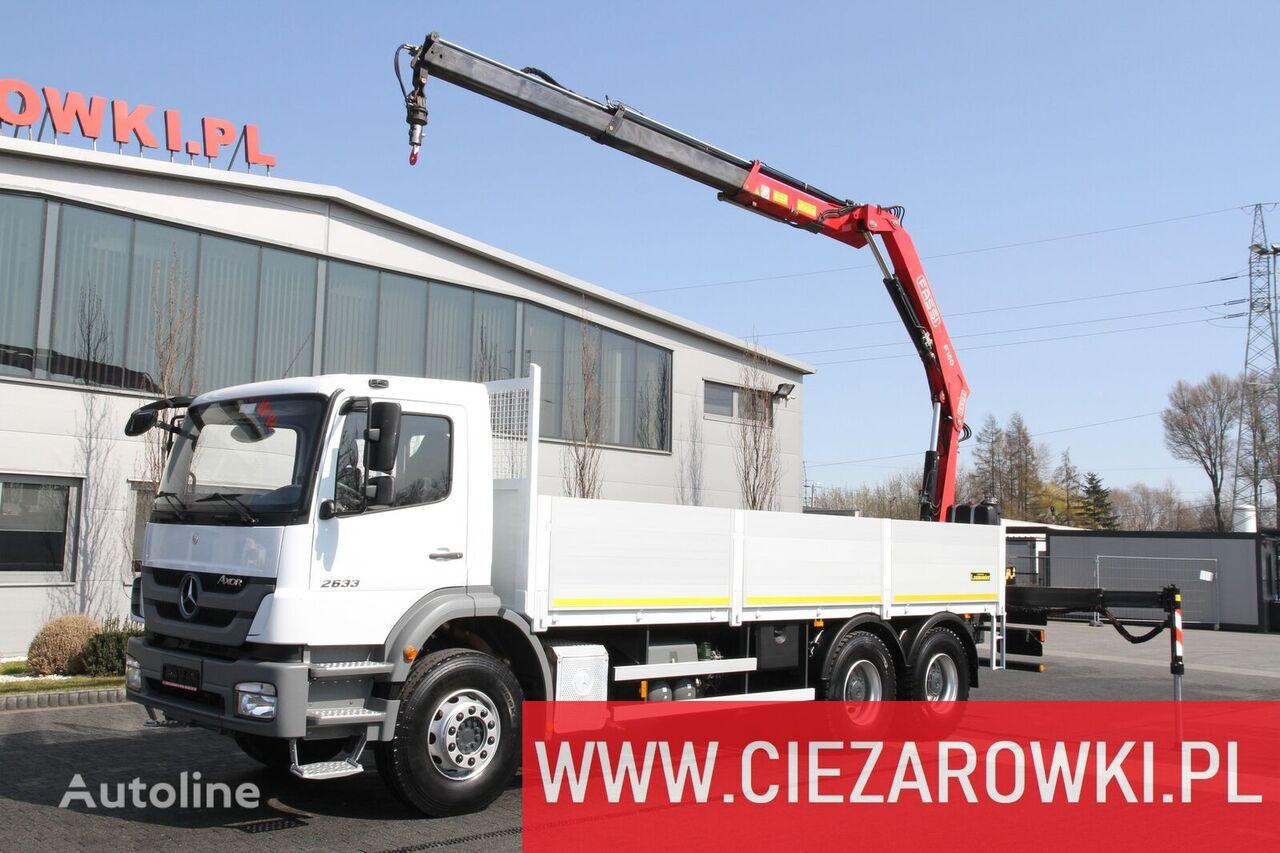 MERCEDES-BENZ AXOR 2633 HDS FASSI F150A.23 10 M kamion s ravnom platformom
