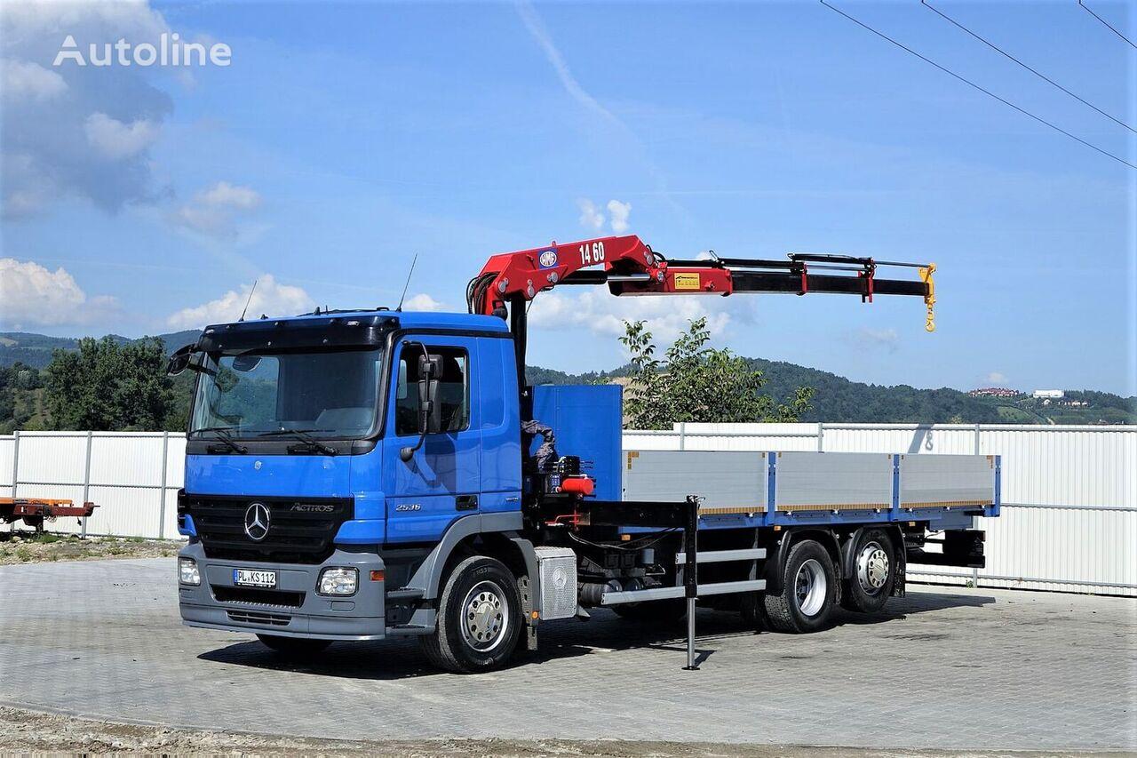 MERCEDES-BENZ Actros 2536 Pritsche 7,50m+ Kran*Topzustand! kamion s ravnom platformom