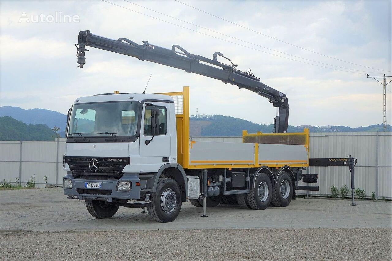 MERCEDES-BENZ Actros 2641 Pritsche 6,60m+ Kran*6x4*  kamion s ravnom platformom