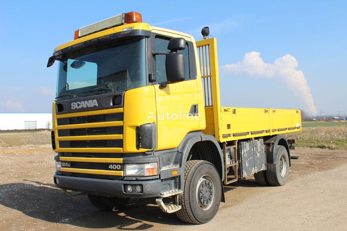 SCANIA R 124 CB 400 Allrad 19to GG guter Zustand Pritsche LKW kamion s ravnom platformom