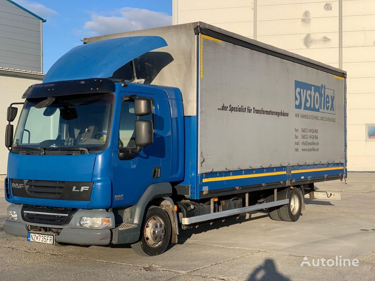 DAF AE 45 LF AUTOMAT EURO 5 kamion sa klizna zavesa cerada