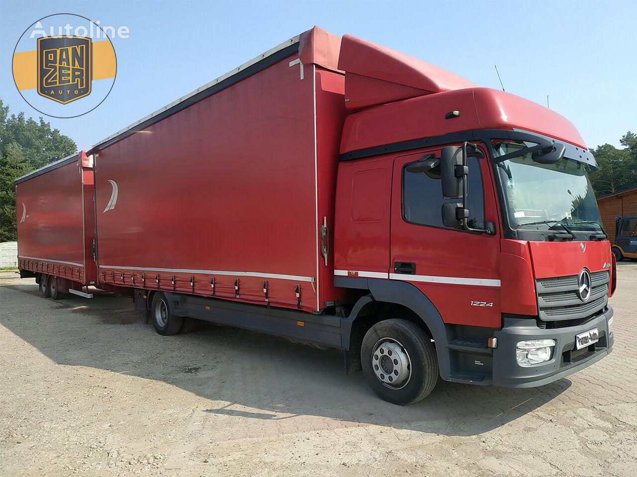 MERCEDES-BENZ ATEGO 1224, NOVAYa MODEL, AVTOPOEZD 120 M3 kamion sa klizna zavesa cerada + prikolica sa kliznom ceradom