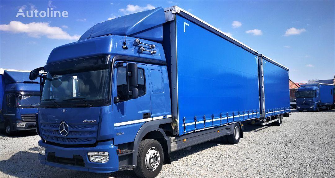 MERCEDES-BENZ ATEGO 1224 zestaw przestrzenny jumbo 770/249/301 kamion sa klizna zavesa cerada + prikolica sa kliznom ceradom