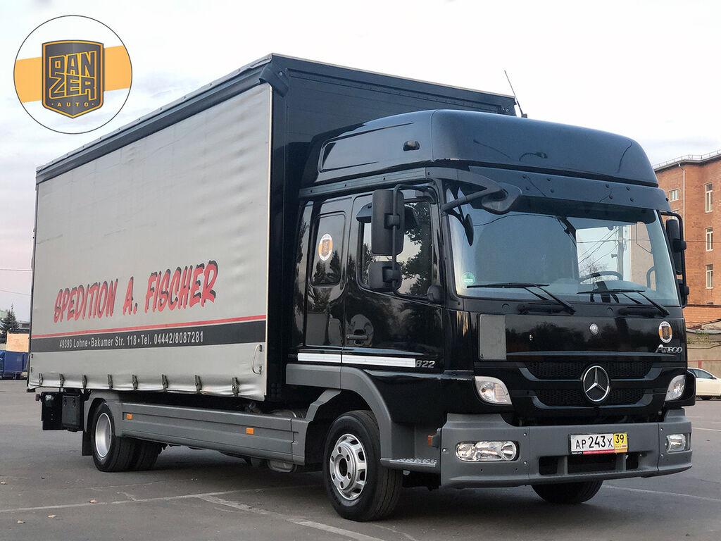 MERCEDES-BENZ ATEGO 822L, pyatitonnik, shtora 40 m3 s gidroliftom kamion sa klizna zavesa cerada
