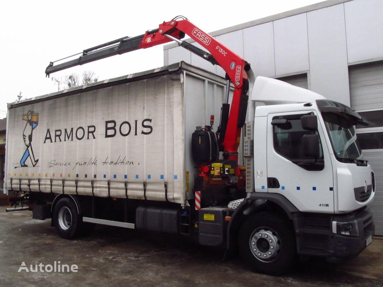 RENAULT PREMIUM LANDER 410DXI FASSI F130 NEW kamion sa klizna zavesa cerada