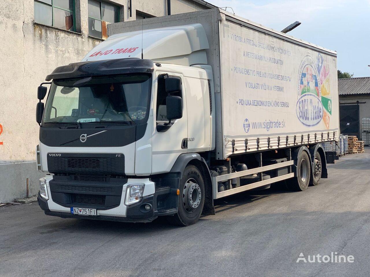 VOLVO FE 320 EURO6 kamion sa klizna zavesa cerada