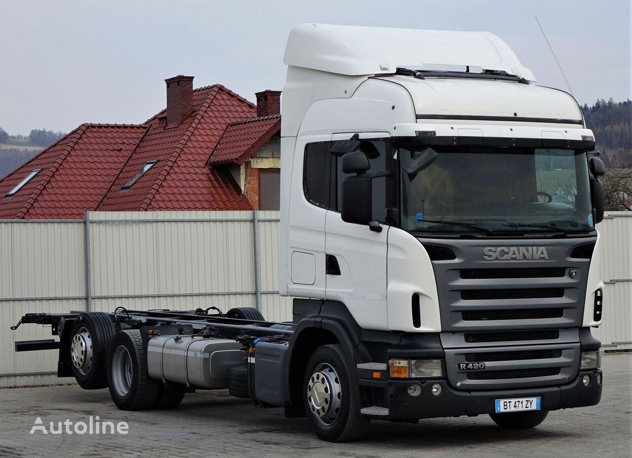 SCANIA R420 Fahrgestell 7,50 m * EURO 5 * Topzustand! kamion-šasija