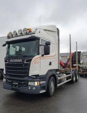 SCANIA R500 V8 6X4, + Epsilon M110L80, 2016 *incoming* kamion za prevoz drva