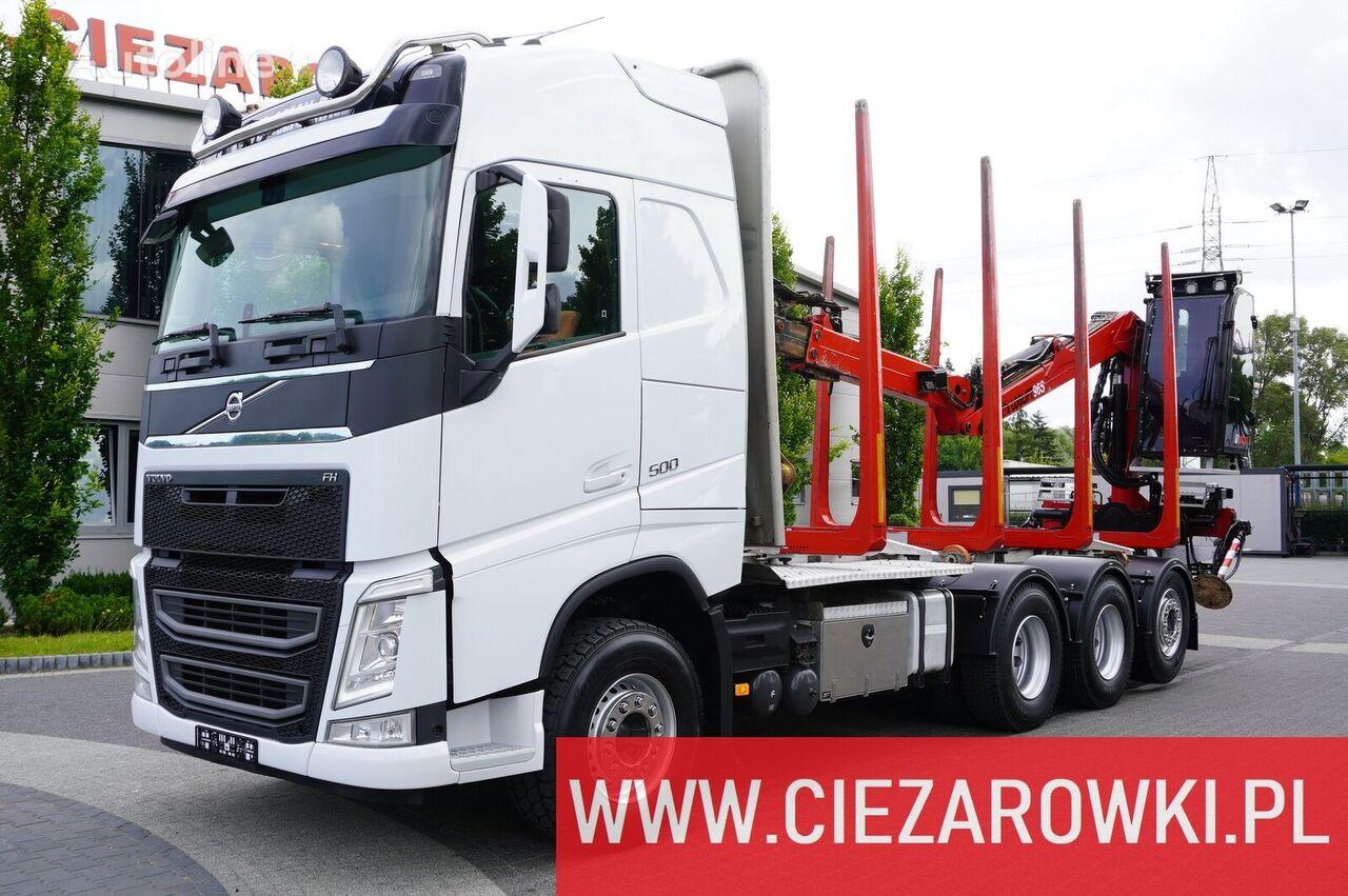 VOLVO FH500 , E6 , 8X4 , Globetrotter XL , Crane HIAB 9,7m , NEW TIRE kamion za prevoz drva