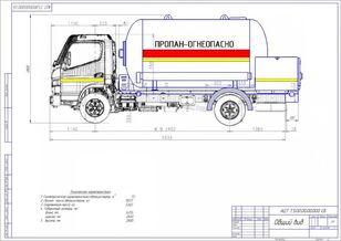 novi Mitsubishi Fuso Canter kamion za transport gasa
