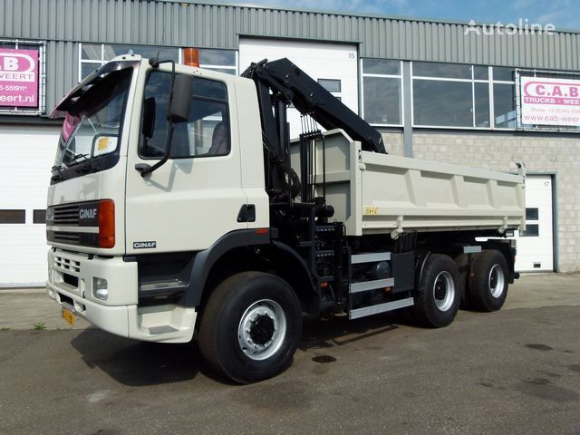 GINAF M 3335-S 6x6 + Crane HMF1150 kiper