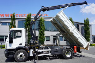IVECO Eurocargo 160E25 , EEV , 4X2 , tipper + Crane , Remote Control  kiper