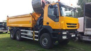 IVECO Trakker 410  Euro5 Kipp.6X6 Krann HMF kiper