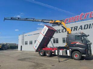 VOLVO FH 520 6x4 Crane EFFER 305 / Kipper vozilo za prevoz kontejnera