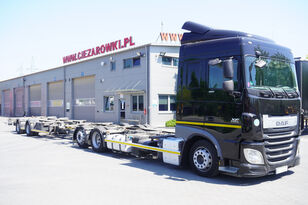 DAF XF 460 SC , E6 , 6X2 , BDF + Wecon 2 axles trailer , BDF SET  vozilo za prevoz kontejnera + prikolica šasije