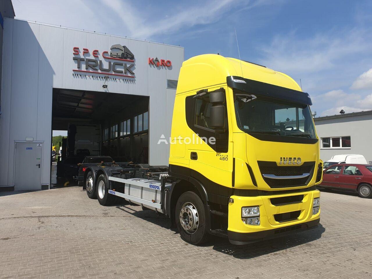 IVECO Stralis 480, AUTOMAT, CURSOR 11 German Truck, Very clean vozilo za prevoz kontejnera