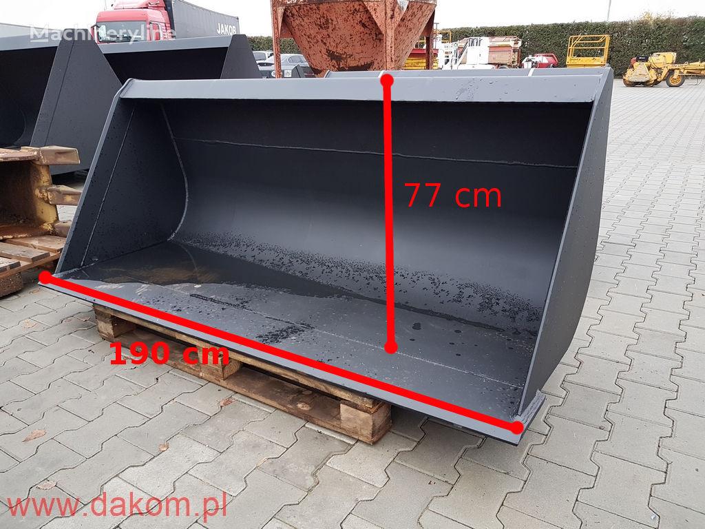nova skid steer loader kašika za prednji utovarivač
