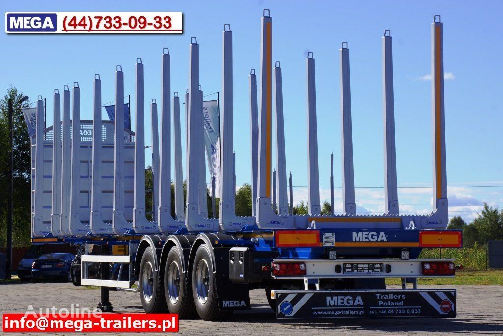 nova MEGA 10 U STANCHION - TIMBER SEMI-TRAILER/HOLZAUFLIEGER- READY ! BERE poluprikolica za prevoz drva