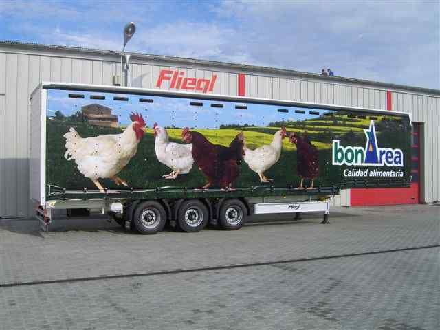 nova FLIEGL SDS 350 kurovoz poluprikolica za prevoz ptica