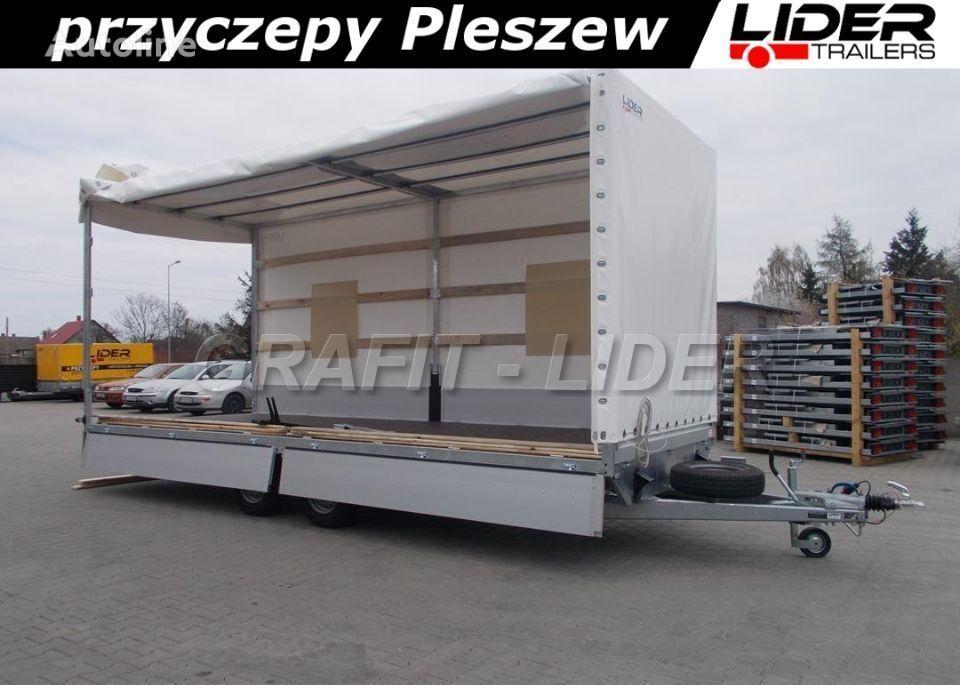 nova LIDER LT-038 przyczepa + plandeka 620x220x260cm, spedycyjna przyczepa  prikolica furgon