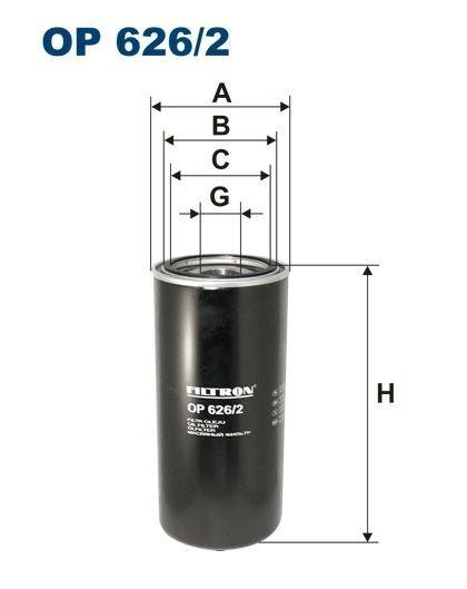 novi DAF FILTRON filter za ulje za DAF 85CF.340, 85CF.380, 85CF.430, 95.380XF, 95.430XF, 95.480XF, 95.5 kamiona