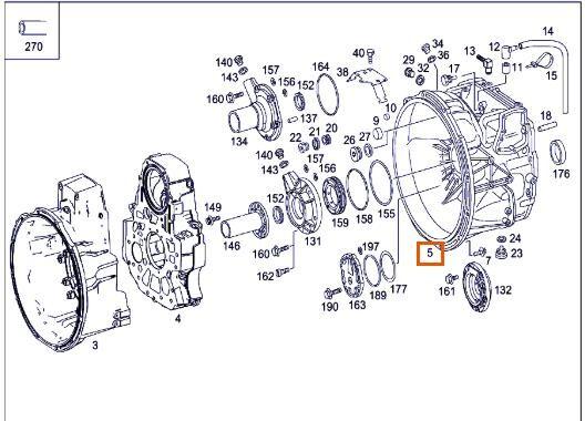 kućište motora za MERCEDES-BENZ Axor 2 - Ejes Serie / BM 944 1843 4X2 OM 457 LA [12,0 Ltr. - 315 kW R6 Diesel (OM 457 LA)] tegljača