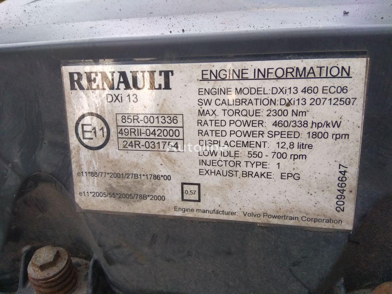 VOLVO dxi13 motor za RENAULT magnum tegljača