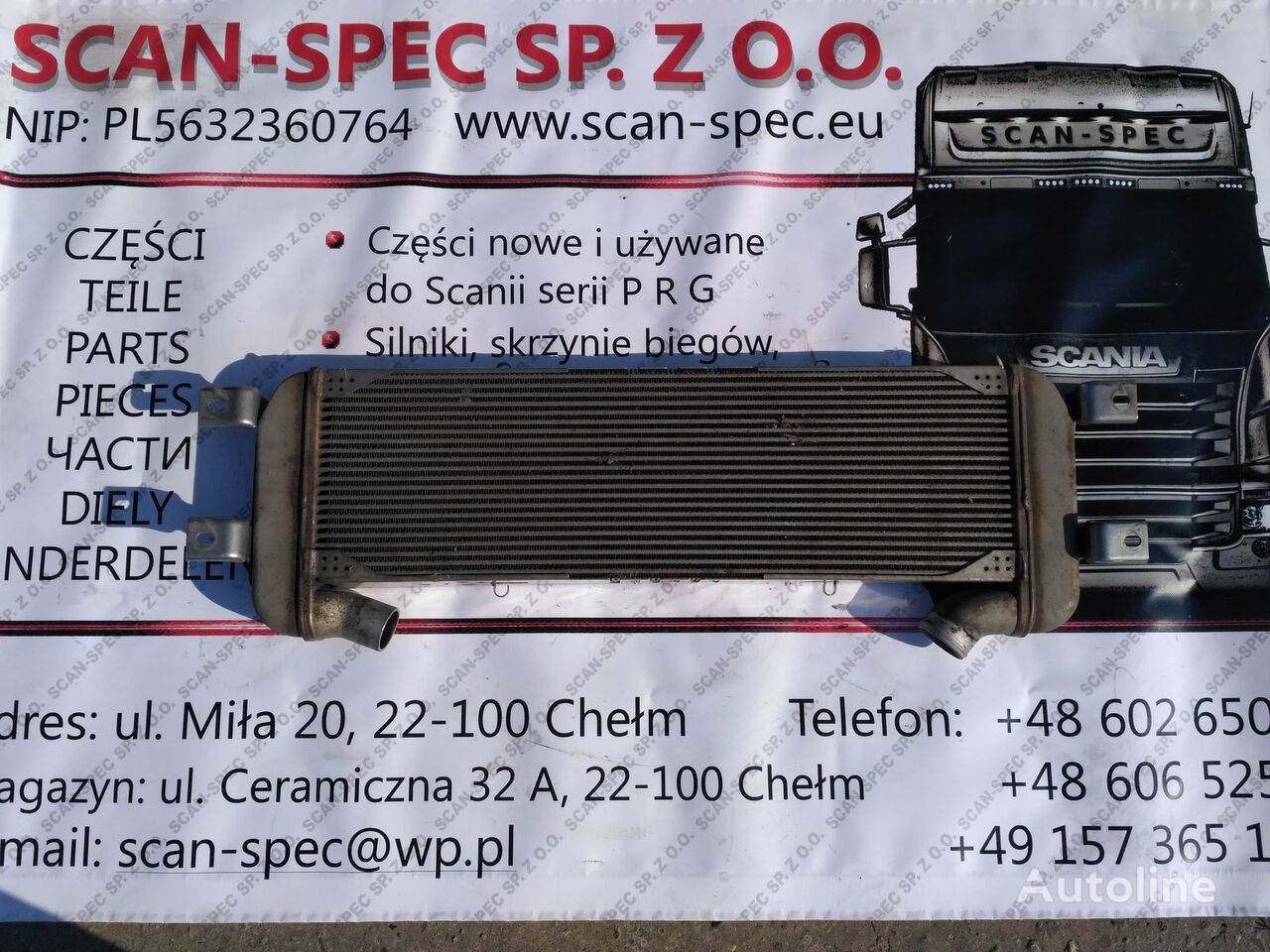 EGR radijator za hlađenje motora za SCANIA P R G T tegljača